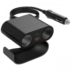 The Best  2-Way Car Cigarette Lighter Splitter and USB Adapter With Switch On/Off 120W-- HUWDER
