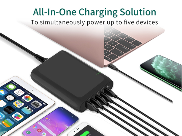 5 Port USB charger station One For All